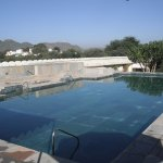 Rooftop marble pool at the Devigarh