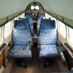 Inside the DH Heron.