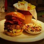 The mighty Waygu Beef Burger...