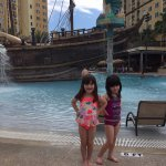 Loved the pirate pool. Wish it were heated.