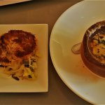 French Onion Soup and Pan Roasted Crab Cake