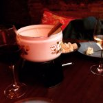 Delicious blue cheese fondue