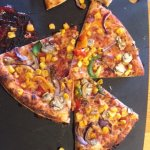 Apparently this pizza is not burnt at all!
