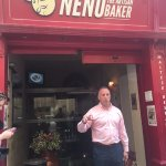 Our fabulous guide Damon, from Exclusively Malta tour co. You can't miss Nenu's with it's red fr