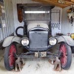 Very old vehicle in Henrys Garage