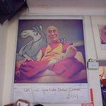 La llama con Dalai Lama