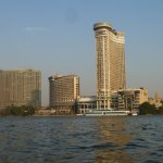 Four Seasons and other hotels on the Nile. Taken while on a felluca.