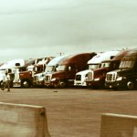 So nice how the trucks all line up for dinner at the Boise Stage Stop.