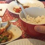orange cashew chicken and coconut rice! Mmmmm