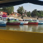 Colorful launches at Patzcuaro's embarcadero