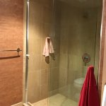 Excellent shower-soft water.
