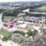 Aerial view of Seaspray Beach Holiday Park Dongara