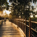 The Bluewater Trail is a shared pedestrian and bicycle pathway in the Mackay city