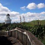 Manukau Heads Lighthouse from the Manukau Heads Signal Station .