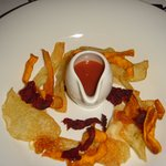 A potpourri of crisps and chips is another starter choice