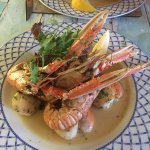 Surf and Turf- There is a fillet steak below the amazing shellfish.