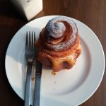 Bought a pastry at Sinchon for breakfast