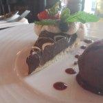 triple chocolate desert