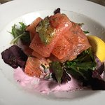 Sublime smoked salmon starter, Easter Sunday lunch at the Punter, truly wonderful x