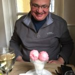 How many scoops is that.....?!:) superb sweet sorbet selection at the Punter, Easter Sunday lunc