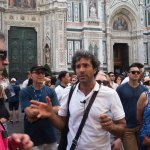 Paul Costa story teller extraordinaire on our tour in Florence