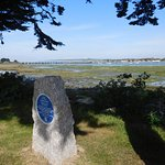 Commemoration stone at the Langstone Hotel