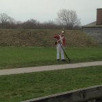 Musket demonstration, Fort George, Ontario
