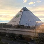 The Bass Pro Shop Pyramid and noisy highway