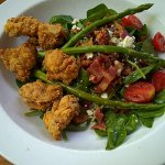 My fried oyster salad
