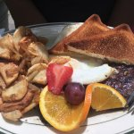 Skirt steak and eggs and a grilled chicken sammie