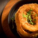 Spanish onion rings in our spiced panko crumb
