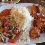 Chicken Shish with rice and salad