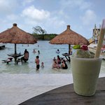 Come enjoy a delicious Coconut Mojito while sitting under our newly installed palapas!!