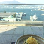 Champon lunch with views of Nagasaki Bay
