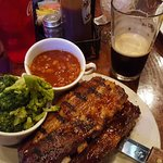 Full rack of ribs - veggies available! Brisket to the side
