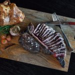 """In house Dry-Aged Porterhouse perfect """"for two"""""""