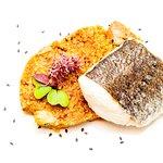lubina salvaje sobre couscous