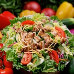 Our chicken chef salad is hearty enough for a meal.
