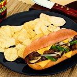 Our sirloin cheesesteak sandwich is a customer favorite.