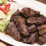 Steak Tips are a customer favorite.
