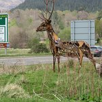 Structure of deer outside Crafts & Things