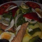 Ensalada semifria (contraste temperatura y sabor delicioso)