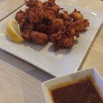 Dinner: Tori Kara & Shrimp Tempura