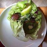 Side Salad in a crisp lettuce leaf