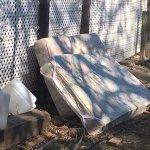 Sewage soaked mattress