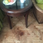 Stained floor in our room