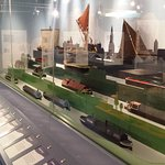 Display of models in the boats and Cargoes exhibition