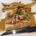 Steel City lobster roll (with fries on the side rather than on top)