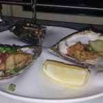 Battered oysters- Deep fried with pickled cucumber & pomegranate