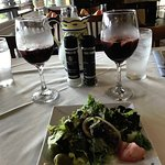 SANGRIA (salad which comes with the paella entree)